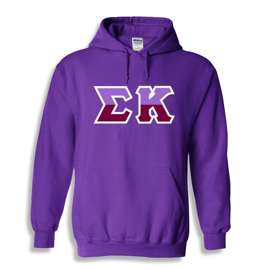 Sigma Kappa Two Tone Greek Lettered Hooded Sweatshirt