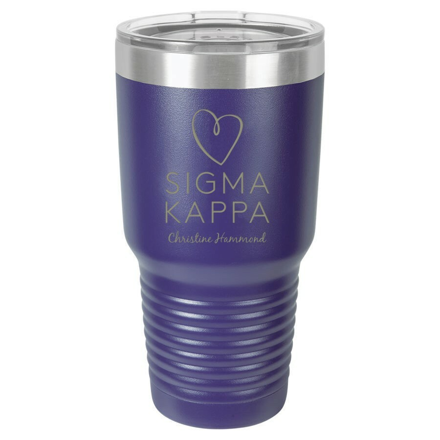 Sigma Kappa Vacuum Insulated Mascot Tumbler