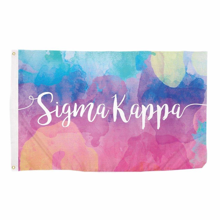 Sigma Kappa Watercolor Flag