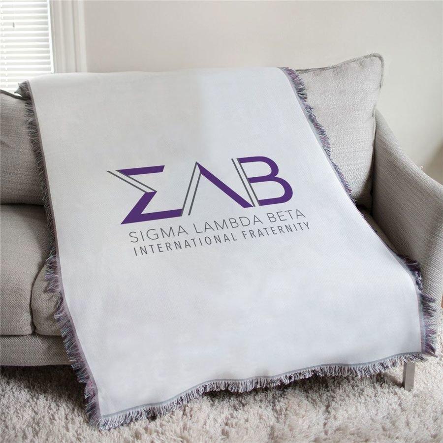 Sigma Lambda Beta Letters Afghan Blanket Throw