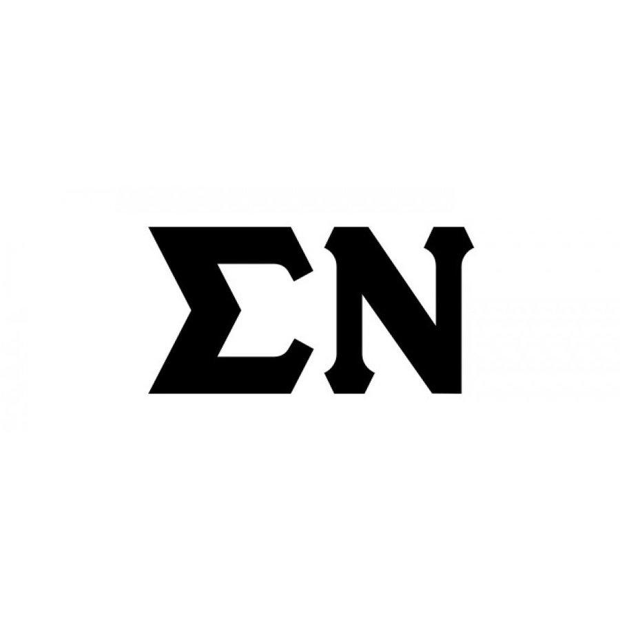 Sigma Nu Big Greek Letter Window Sticker Decal