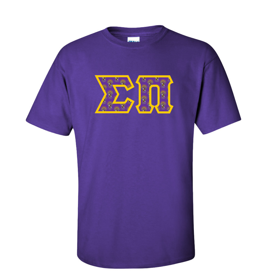 Sigma Pi Fraternity Crest - Shield Twill Letter Tee