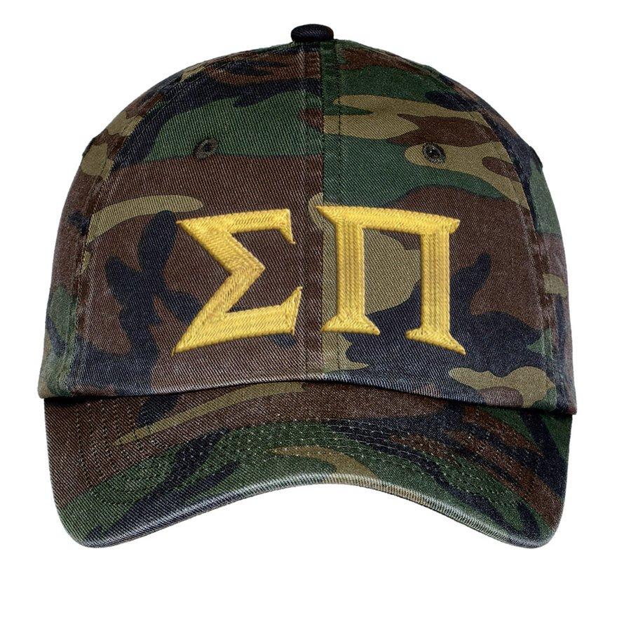 Sigma Pi Lettered Camouflage Hat