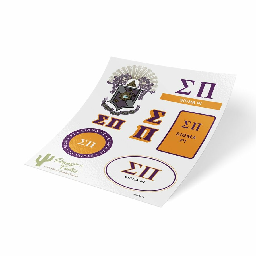 Sigma Pi Traditional Sticker Sheet