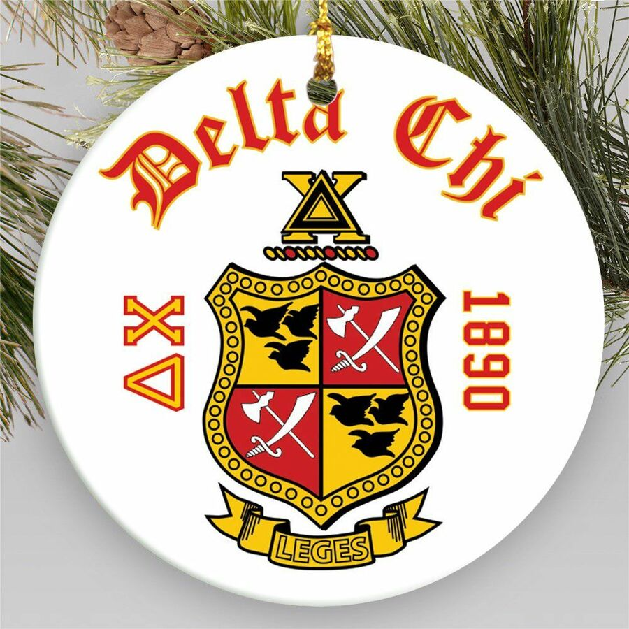 Fraternity Round Christmas Shield Ornament