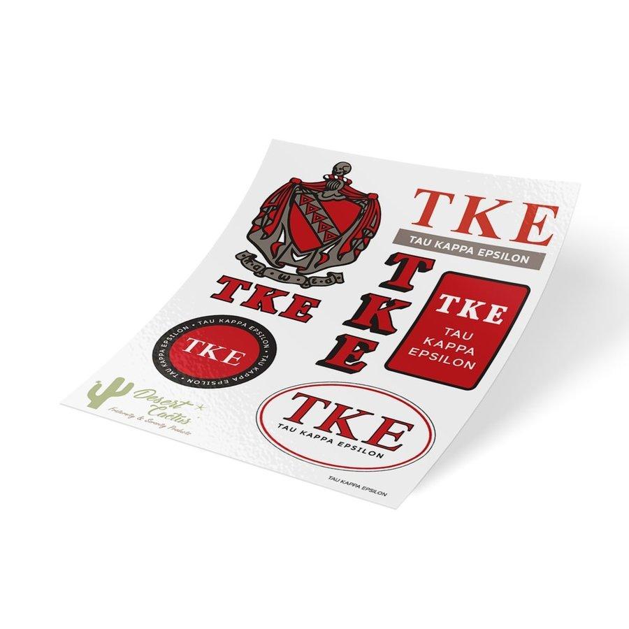 Tau Kappa Epsilon Traditional Sticker Sheet