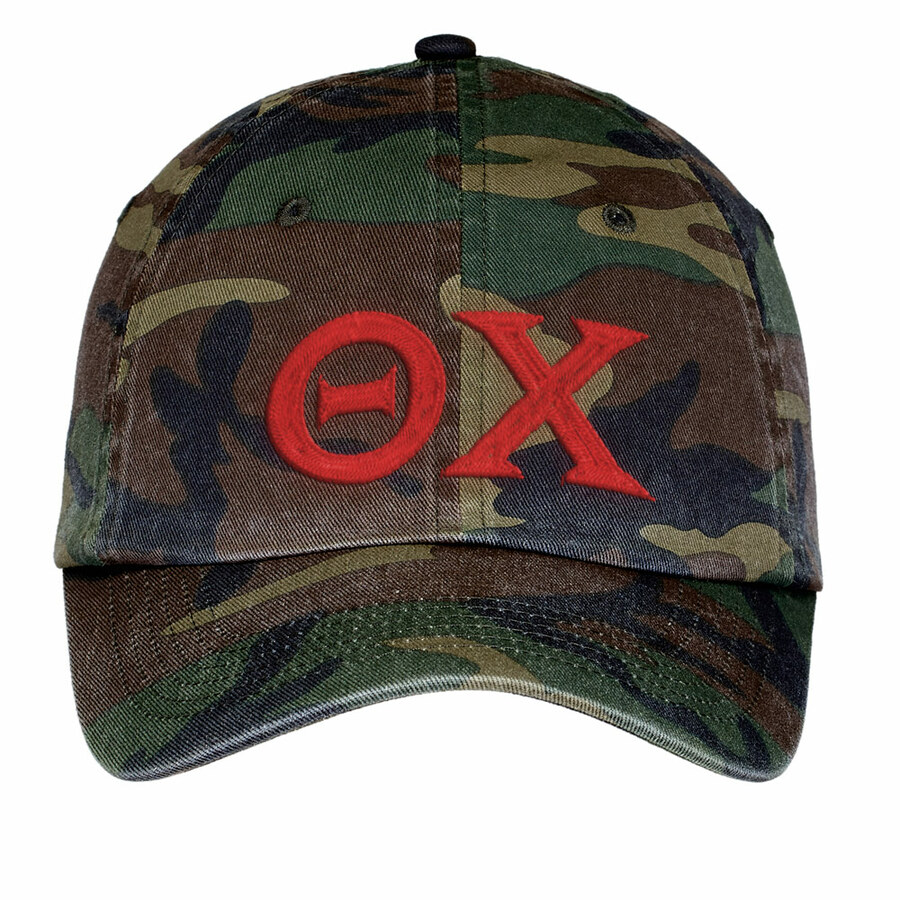 Theta Chi Lettered Camouflage Hat
