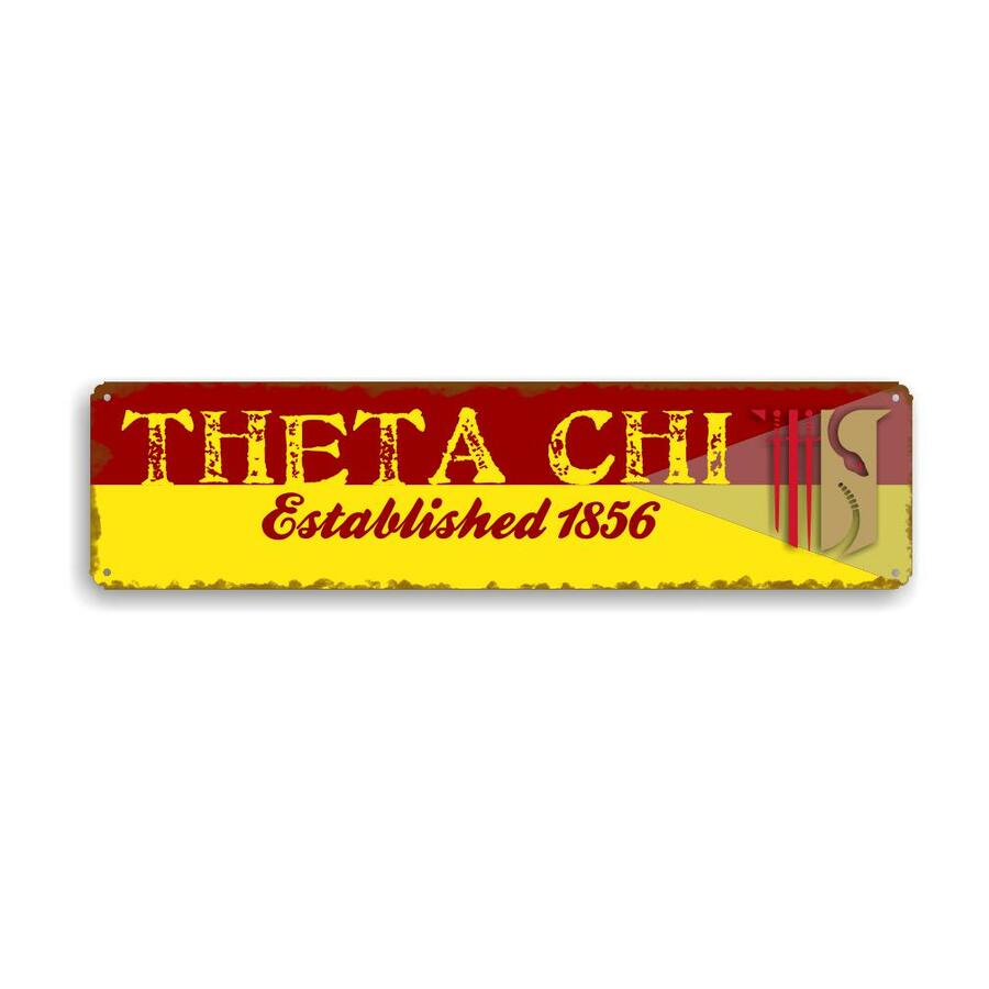 Theta Chi Vintage Metal Greek Sign