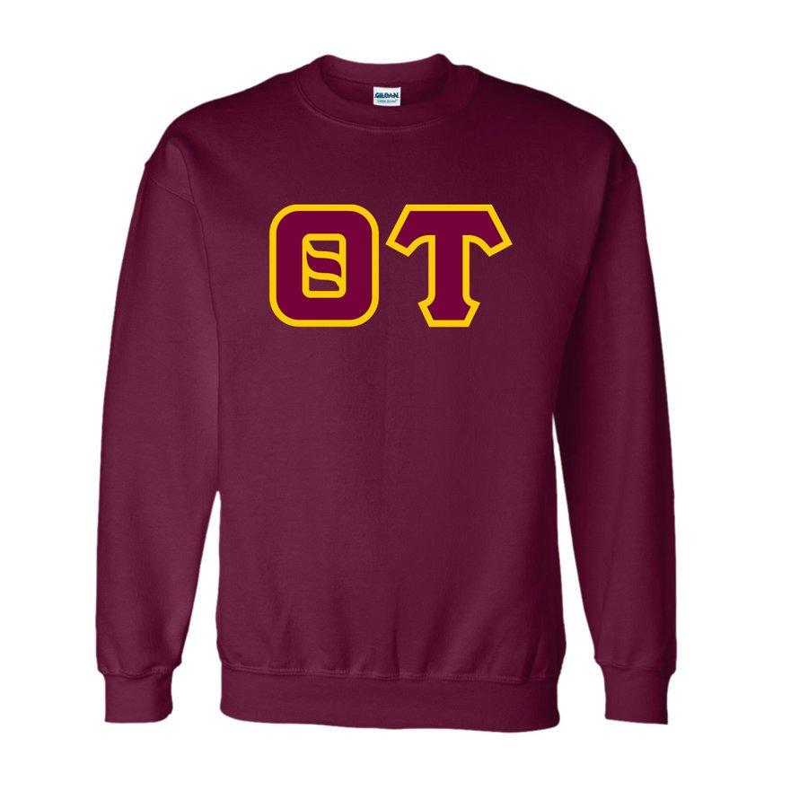 Theta Tau Lettered Crewneck Sweatshirt