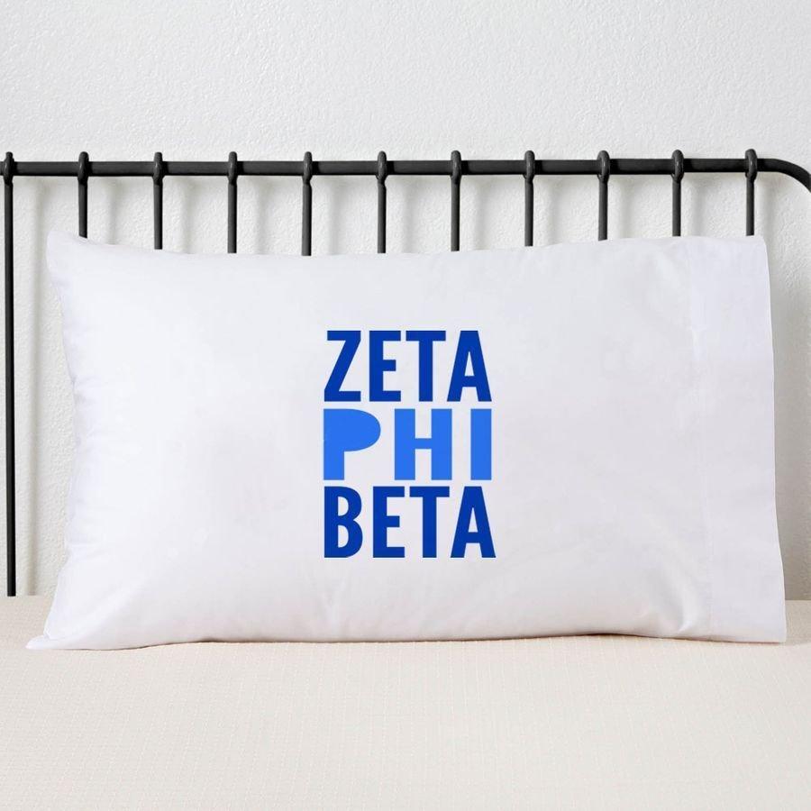 Zeta Phi Beta Name Stack Pillow Cover
