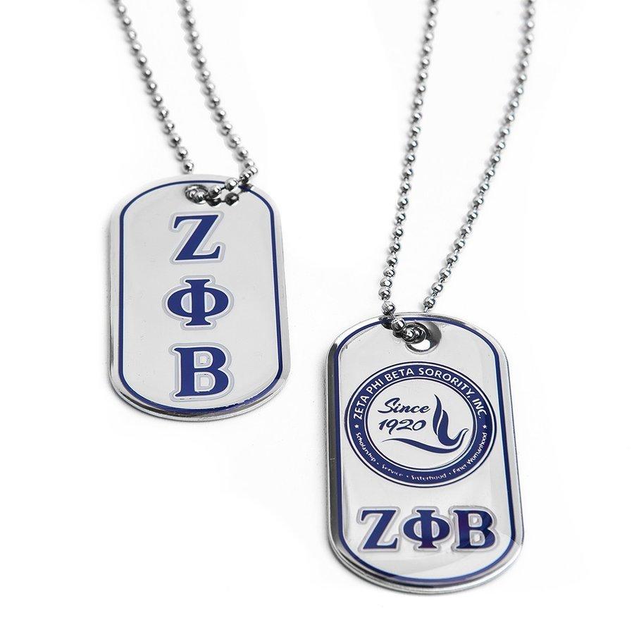 Zeta Phi Beta Reversible Dog Tags