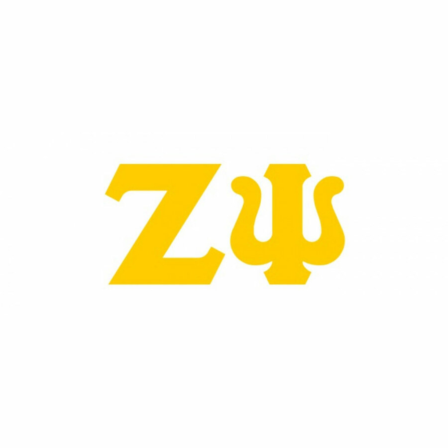 Zeta Psi Big Greek Letter Window Sticker Decal