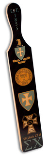 Sigma Chi Printed Wood Greek Paddle