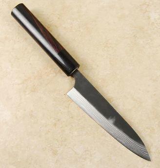 Anryu Kurouchi Damascus Petty 130mm
