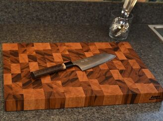 CKTG Tiger Wood Cutting Board