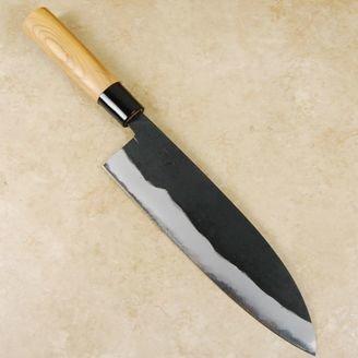 Hinokuni Shirogami #1 Santoku 210mm
