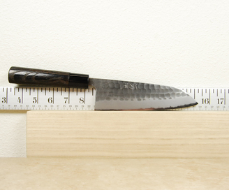Itto-Ryu Hammered White #2 Santoku 165mm