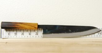 Karaku Blue #1 Gyuto 210mm Burnt Handle