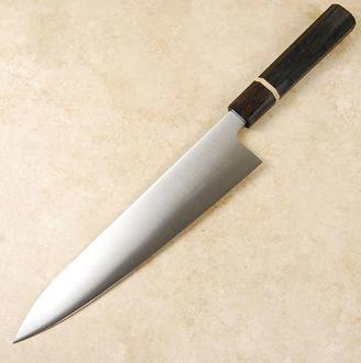 Konosuke Swedish Stainless Gyuto 240mm Bog Oak
