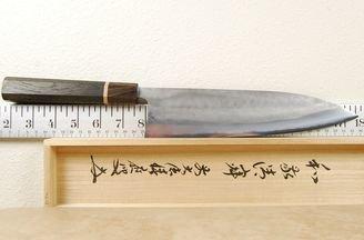 Matsubara Blue #2 Nashiji Gyuto 240mm Bog Oak