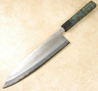Matsubara Blue #2 Nashiji Gyuto 240mm