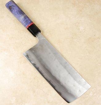 Matsubara Blue #2 Nashiji Tall Nakiri 180mm