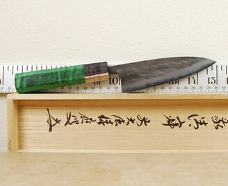 Matsubara Blue #2 Nashiji Tall Petty 130mm Custom