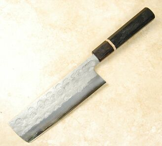 Matsubara Blue #2 Wavy Face Nakiri 165mm
