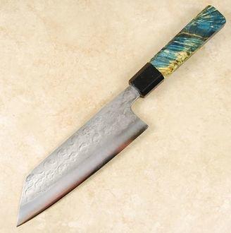 Matsubara Blue #2 Wavy Face Bunka 175mm Custom