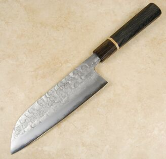 Matsubara Blue #2 Wavy Face Santoku 180mm