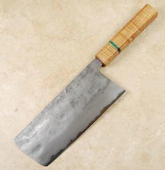 Matsubara Blue #2 Nashiji Tall Nakiri 175mm Custom