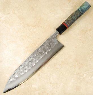 Matsubara Wavy Face Blue #2 Gyuto 240mm Custom