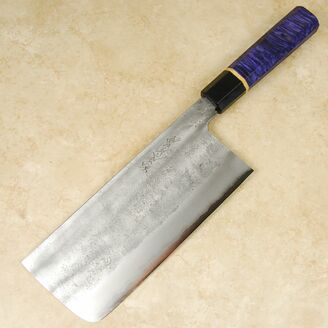 Matsubara Blue #2 Nashiji Tall Nakiri 180mm