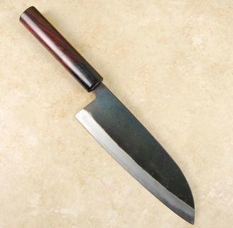 Nishida White #1 Kurouchi Santoku 180mm