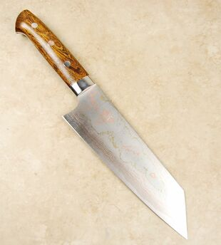 Saji Rainbow Damascus Blue #2 Bunka 180mm