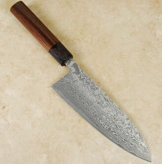Shiro Kamo SG2 Damascus Gyuto 180mm