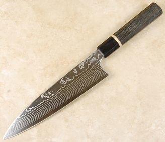 Sukenari ZDP189 Damascus Gyuto 210mm Custom