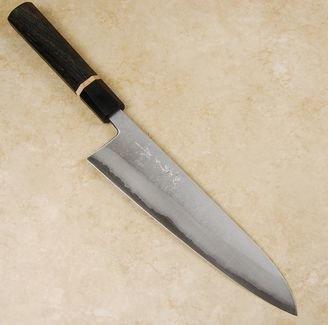 Tanaka Blue #2 Nashiji Gyuto 210mm Bog Oak