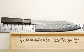 Tanaka Blue #2 Nashiji Gyuto 190mm Bog Oak