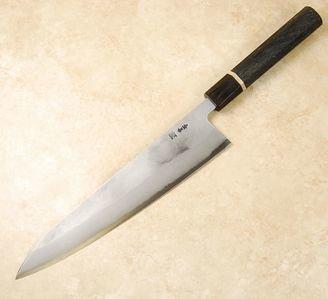 Tanaka Blue #2 Nashiji Gyuto 240mm Bog Oak