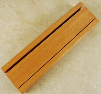 Tiger Wood Double Cleaver-Knife Stand