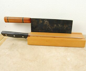 Two Cleaver Knife Stand