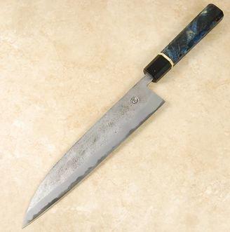 Tsubaki Blue #2 Nashiji Gyuto 245mm