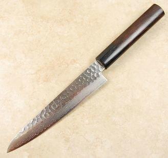 Tsunehisa VG10 Hammered Damascus Petty 150mm