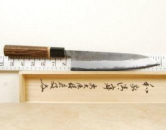 Yahiko Sanjo White #2 Nashiji Gyuto 210mm