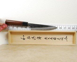 Anryu Kurouchi Damascus Honesuki 155mm