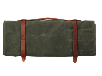 Hardmill Knife Roll Waxed Olive