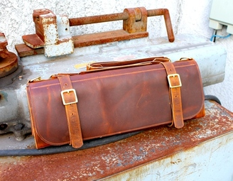 Jaw Leather Knife Roll Large