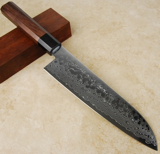 Kikuichi Swedish Warikomi Damascus Santoku 180mm
