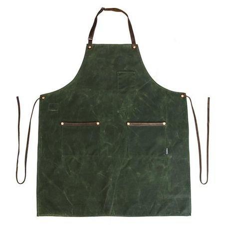 Hardmill Waxed Canvas Apron Olive
